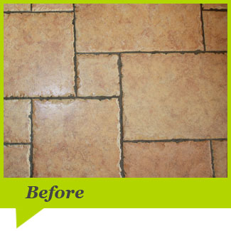 Before Tile & Grout Cleaning